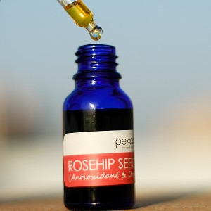 rosehip seed oil in dropper